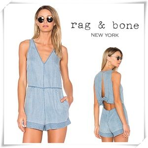 Rag and Bone Mojave Romper in Indigo blue